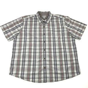 Carhartt Plaid Short Sleeve Button Down Men's 3XL